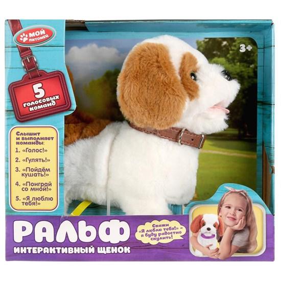 """Интерактивный щенок Ральф 23см, слышит, понимает, выполняет 5 команд в кор. """"Мой питомец""""  JX-1565A"""